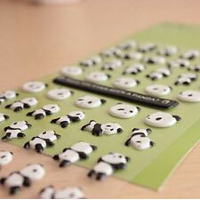 Simple lovely Bubble Diary Photo Stickers cute Panda Decorative Craft  Adhesive