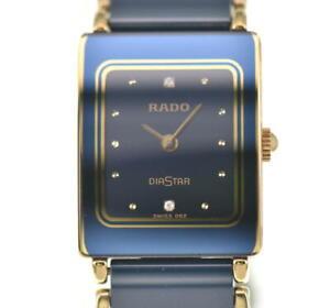 RADO Diastar 153.0283.3N 2P diamond black Dial Quartz Ladies Watch A#101769