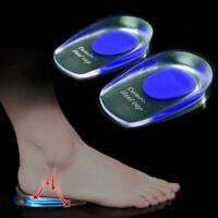 Silicone Gel feet Cushion Foot Heel Cup Elastic Care Half Insole Shoe Pad C N2X7