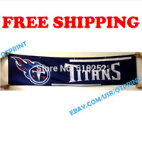 Tennessee Titans Logo Banner Flag 2x8 ft 2020 NFL Fan Club Wall Home Decor NEW