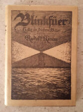 """Buch """"Blinkfüer, helle un düstere Biller"""" von Rudolf Kinau, in plattdeutsch !"""