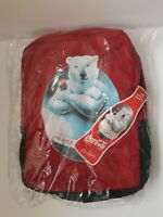 Coca Cola Polar Bear Red and Black Backpack New Coke