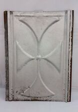 Galvanized Tin Ceiling Tile Religious Cross Industrial Rustic Shabby Decor