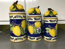 New ListingBlue Sky Clayworks Lemon Canister Set Of 3