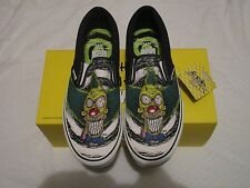 VANS Slip on LX off The Wall Simpsons Krusty Lime Punch Size 11 SNEAKERS 672460d05