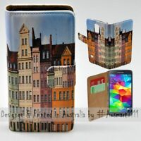 For Samsung Galaxy Series - Polish Colour Building Print Mobile Phone Case Cover