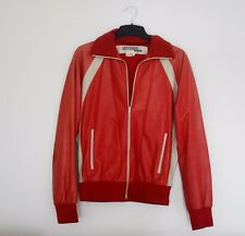 COMME DES GARCONS x JUNYA WATANABE vtg red leather mens bomber jacket blouson