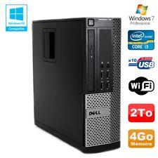 PC DELL Optiplex 790 SFF Intel core i3-2120 3.3Ghz 4GB DDR3 2TB WIFI Win 7 Pro