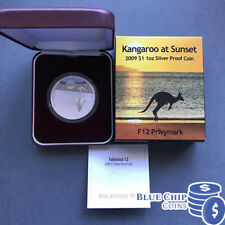 2009 $1 Kangaroo At Sunset 1oz Silver Proof Coin