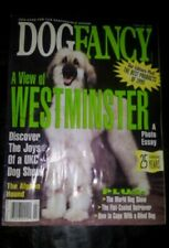 Afghan Hound on Cover - DogFancy Magazine Westminister Dog Show 25 years - 1996