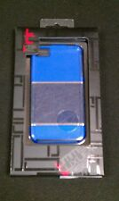 Limited Luxury Case Blue with Leather Fitted Hardshell Case for iPhone 4/4S