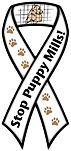 """STOP PUPPY MILLS!"" Car Ribbon Magnet  QUALITY"