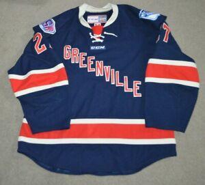 Matt Prapavessis Greenville Swamp Rabbits Rangers NY Alternate Game Worn Jersey