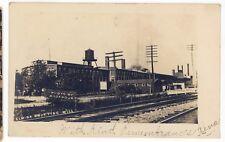Elmira Knitting Mill Railroad ELMIRA NY Vintage Real Photo Postcard