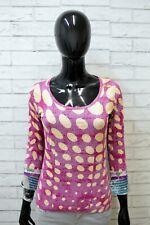 Maglia Custo Barcelona Donna Taglia 2 ( XS ) Maglietta Shirt Woman Elastica Pois