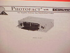 1977 Lear Jet Am-Fm Mpx Stereo Radio Service Shop Manual Models R-947 & R-957