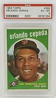 1959 Topps #390 Orlando Cepeda PSA 6