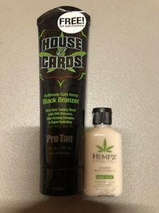 Protan House Of Cards Ruthlessly Dark Hemp Black Bronzer 9 Oz