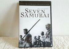 Seven Samurai (Dvd, 1998, Criterion Collection) Akira Kurosawa Euc Ship Fast