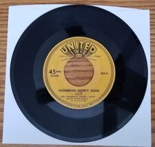 Vintage 45 RPM Ted Sagebush Shorty Lloyd Be Kind to Each Other Detroit Show 50's