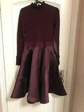 SOLD OUT AUTH Ted Baker ZADI Frill neck full skirt dress MAROON 1235