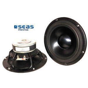 """NEW Pair of High End Seas 6.5"""" Aluminum Cone 4Ω woofers"""