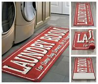 "Laundry Room Runner Rug 20"" x 59"" Non-Slip Rubber Backing Area Rug"