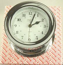 Weems & Plath Atlantis Chrome Clock Quartz Model 220500 Nautical NIB Great Gift!
