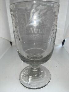 Antique Early 19c Rummer Drinking Glass Engraved AULD LANG SYNE