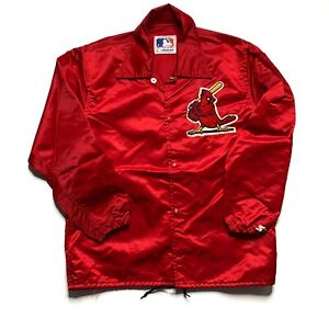 Vintage St. Louis Cardinals Starter Coaches Jacket Size M Red Nylon