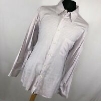 Ermenegildo Zegna XL Shirt Lilac Purple Check Button Down Front Long Sleeve B2
