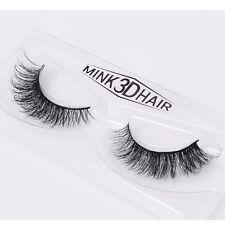 Slender Luxurious 3D False Eyelashes Classic 100% Real Mink Fur Fake Eye Lashes
