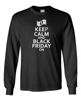Men Keep Calm And Black Friday On T Shirt Shopping Funny Shirt Tee Christmas