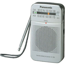 Panasonic RF-P50D AM/FM Compact Size Pocket Radio +Built-in Speaker (Silver)