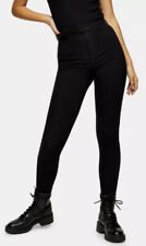 Ladies Topshop Joni Super High Waisted SKINNY Black Jeans W25 L34 UK 6