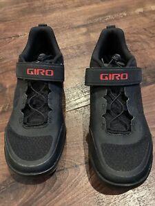 GIRO Cycling Off Road Shoes, Sensor Rubber, Men 7.5, Black, NEW!
