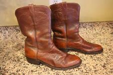 Lucchese L8009 Men's Brown Leather Wester Boots size 8.5 (BOTA1300