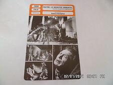 CARTE FICHE CINEMA 1959 CALTIKI LE MONSTRE IMMORTEL John Merivale Didi Sullivan