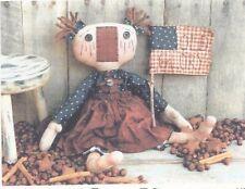 Pattern-Primitive Americana Raggedy Annie Doll- Sweet! Threadbare Primitives