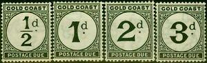 Gold Coast 1923 Postage Due Set of 4 SGD1-D4 Fine Mtd Mint