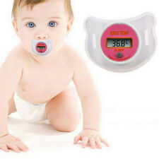 Toddler Baby Soother Pacifier Oral Thermometer LED Safety Temperature Monitor