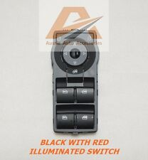 HOLDEN COMMODORE VE HSV / SS / SV6 BLACK POWER WINDOW MASTER SWITCH (RED)
