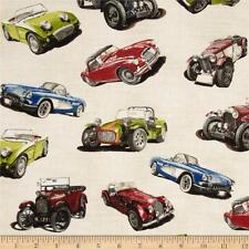 CARS Fabric Fat Quarter Cotton Craft Quilting Classic  SPORTS Cars Motoring