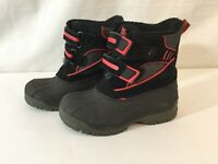 Totes Kids Jason Water Resistant Waterproof Snow Boot Toddler Size 8 M Red Black