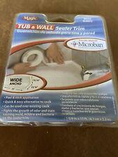 """New listing Magic Peel & Stick Caulk Tub & Wall 1-5/8"""" x 11' Bathtub Shower Water Seal"""