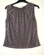 PALE DARK PURPLE LADIES CASUAL STRETCH TOP GEORGE SIZE 10 BLOUSE