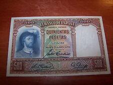 SPAIN/ESPAÑA  500 PESETAS JUAN SEBASTIAN DE ELCANO 1931 RARE BANKNOTE