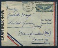 Stati Uniti 1941 Mi. 450 Busta 100% Censura