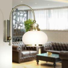 Glas Wand Lampe Gäste Zimmer Beleuchtung Alt Messing Strahler Leuchte Antik Stil