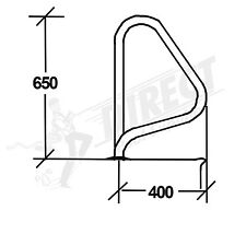G5 Flanged Grab Rails (Pair) Stainless Steel Hand Rail For Swimming Pools